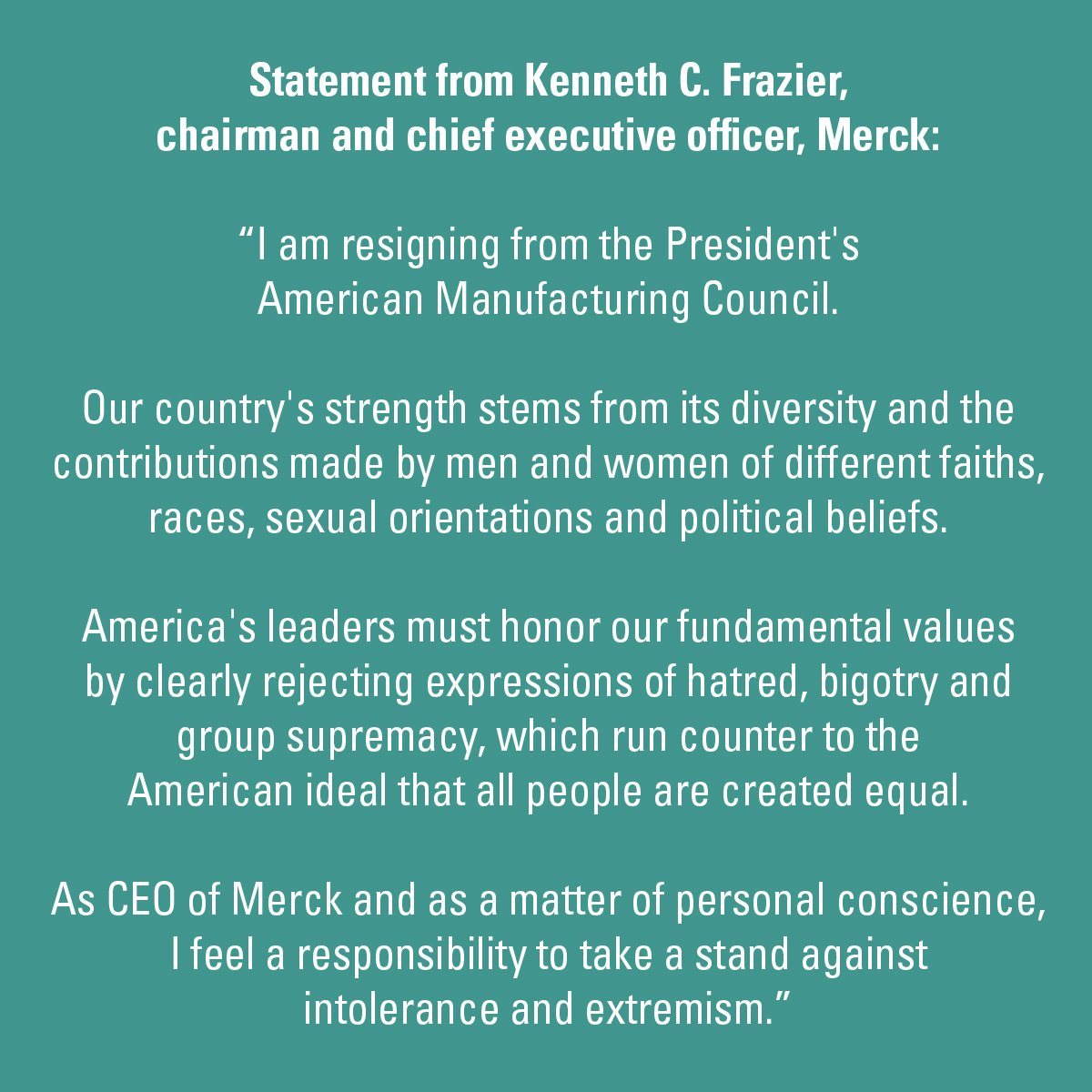merck statement
